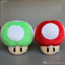 "Wholesale Toy Mushrooms Kids - 2 Pcs Lot 9"" 23 CM Super Mario Mushrooms Plush Toys Mario Stuffed Soft Dolls Kids Gift"
