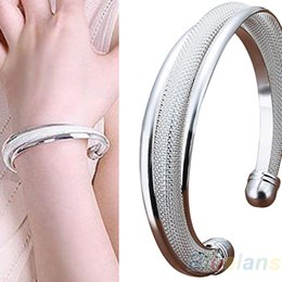 Wholesale Bevel Bracelet - Fashion Classical Silver Jewelry Bevel Bangle Bracelets & bangles Gift Bracelet 02XJ