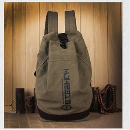 Wholesale Big Backpacks School Girls - 2017 New fashion backpack bucket shape simple student girls school bag book vintage bags sports basketbal big capacity bag