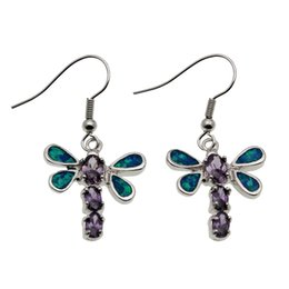 Wholesale Blue Opal Silver Earrings - Choose Your Style Hermosa 925 Sterling Silver Natural Gemstone Blue Opal Women Genuine Amethyst Dangle Earrings Stunning Charm Jewelry