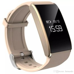Wholesale Tracker Day - Smart bracelet heart rate blood pressure health monitoring waterproof step phone watch SMS remind anti-lost work 7 days gift Android IOS