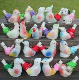 Wholesale Bird Whistles - 18 style Animal Bird Ceramics Whistle Bathtime Musical Toy for Kid Early Learning Educational Toys Children Xmas Gifts YYA663