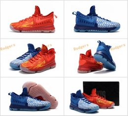 Wholesale Cheap Kds Basketball Shoes - 2017 New KD9 What the KD 9 Fire & Ice Basketball Shoes Men Cheap Kds Kevin Durant 9 Sports Sneakers Size 40-46