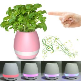 Wholesale Touches Piano - Bluetoth Smart Touch Music Flowerpots Plant Piano Music Playing Wireless Flowerpot colorful light Flower pots without Plants