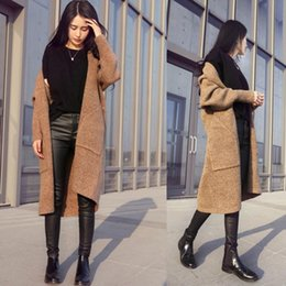 Wholesale Cashmere Sweaters Women S Clothing - Wholesale-Women\'s Clothing 2016 Spring Autumn Winter Single Breasted Cashmere Knitted Long Cardigans Sweaters Coat Women