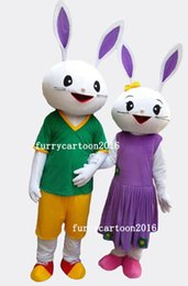 Wholesale Mascot Costume Bugs Bunny - High quality Adult size Cartoon Bugs Bunny Rabbit Mascot Costume mascot halloween costume bugs bunny Mascot free shipping