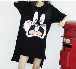 Wholesale Korean Designer Shirts - Wholesale-summer style casual cartoon cats t shirt plus big size loose designer T-shirt harajuku women tshirts korean camisetas femininas
