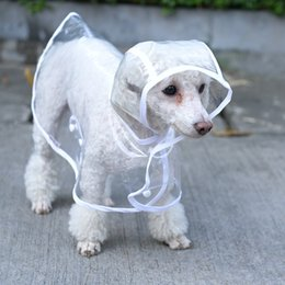 Wholesale Rain Pet - Small dog raincoats rain coat snow coat pet clothes apparel cute dog clear dress pet raincoat for dog wen4551