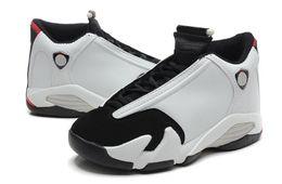 Wholesale Retro Size 14 - Retro 14 XIV Black Toe men Basketball Shoes fashion 14S Sports Shoes With Shoes Box size 8-13