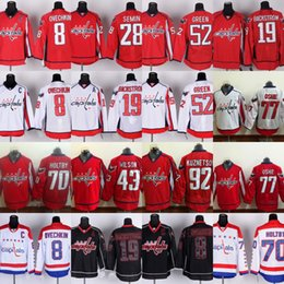 Wholesale 8 Alex Ovechkin Jersey Mens Washington Capitals Nicklas Backstrom Paul Carey Mike Green Braden Holtby T J Oshie