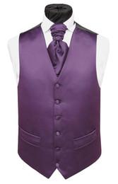 Wholesale White Vest Blazer For Men - New Classic fashion Purple Satin tweed Vests Wool Herringbone British style Mens suit tailor slim fit Blazer wedding suits for men P:8