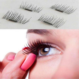 Wholesale Silk Strips - Same Day ship out! NEW Ultra-thin 0.2mm Super soft silk artificial magnet eyelashes woman makeup magnetic eyelash popular 3d lashes