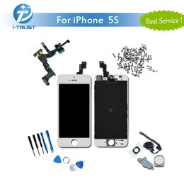Wholesale Full Color Display - Brand New LCD Display For Color Black White iPhone 5S Touch Screen Digitizer Full Assembly Repair Replacement +Repair Tools+ Free Shipping