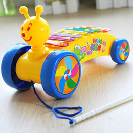 Wholesale Animal Roll - Drawable Snails Rolling Xylophone Knock on Piano Baby Kids Plastic Toddler Learning Education Toy free shipping