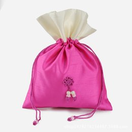 Wholesale Chinese Wedding Favor Bag - 12*19(cm)Joint Empty sachets  Chinese Knot Bag Christmas Wedding Birthday Party Favor Bags  Packaging Bag Drawstring Craft