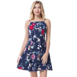 Wholesale Slim Beach Dress Bohemia - Bohemia Vintage Dresses Women Floral Short Dress Beach Ladies Boho Slim Elegant Vestidos Party Sexy Clothing Female Summer 2017