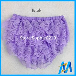 Wholesale Wholesale Girls Diaper Covers - 2017 Baby Petti Bloomers Cute Baby Diaper Cover Newborn Shorts Summer Girls Ruffed Lace Pants 30PCS Lot