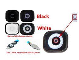 Wholesale Home Button Gasket Iphone 4s - for iPhone 4S 5 5C Home Menu Button Keypad + Rubber Gasket + Flex Cable & Metal Discus & Flex Brackets (5015IP&516IP)