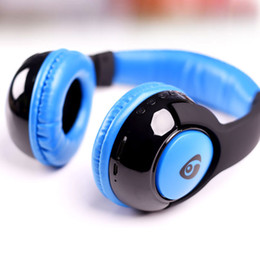 Wholesale Wireless Mp3 Headphones - Bluetooth Headphone Headset Wireless Stereo Earphone Best Quality Bluetooth Version 4.1 Mini Wired Headset Brand Mp3 Music Sport Earphones