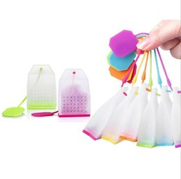 Wholesale Selling Eco Bags - Hot Selling Bag Style Silicone Tea Strainer Herbal Spice Infuser Filter Diffuser Kitchen Accessories Random Color