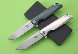 Wholesale Defense Tools - CH3507 original design Flipper folding knife M390 Blade ball bearings TC4 Titanium handle camping fruit pocket knives EDC tools