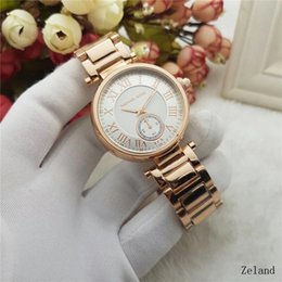 Wholesale Michael Watch Women - Luxury Famous Designer Women Rhinestone watches fashion luxury Brand Dress Michael ladies watch for Free Shipping