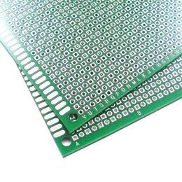 Wholesale Diy Paper Board - 6X8cm DIY Prototype Paper PCB Universal Circuit Board Double Side Board 1.6mm 2.54mm Glass Fiber