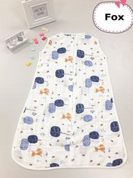 Wholesale Aden Anais Gauze - New Arrival Summer Newborn 0-18 Months Baby Sack 100% Muslin Cotton Aden Anais Baby Single Layer Gauze Baby Sleeping Bag With Label