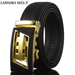 Wholesale Blet Buckles - 2017 New letter automatic mens belt fashion genuine leather belts luxary blet men designer men belt ceinture KB-94