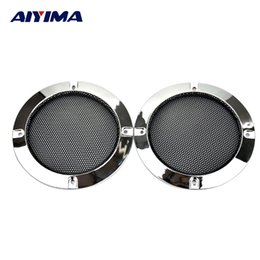 Wholesale Grille Grill - Wholesale- AIYIMA 2Pcs 4Inch 123x104MM Speakers Protective Net Tweeter Grille Waffle Mesk Grills Special Audio Accessories