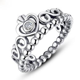 100% S925 стерлингового серебра принцы Корона кольца для женщин Девушки День Святого Валентина обручальное корона с бриллиантом кольцо мода ювелирных изделий от