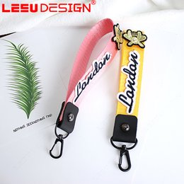 Wholesale Chain Protectors - wholesale 100 Pcs Mixed free shipping Wholesale Adventure Time Lanyard Styles Key Chain ID Protector mobile phone charms strap