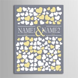 Wholesale Personalized Guest Books - Wholesale-Personalized Canvas Wedding Guest Book Wedding Decor Decorations Mariage Decoration Event Party Supplies Boda
