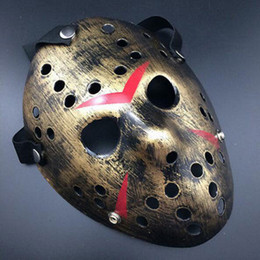 Wholesale Cosplay Silicone Mask - New Jason vs Friday The 13th Horror Hockey Cosplay Costume Full Face Halloween Mask Fancy Dress Party Free Shipping