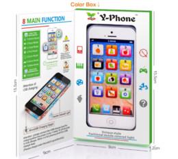 Wholesale Mini Fun Led - Learning Education Kids Toys Y Phone 5 kids English Learning Machine LED Light Children COPY Y-phone Fun Toys