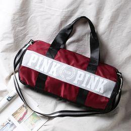 Wholesale Traveling Tote Bag - Wholesale- J-Bg pink 2016 New Women Brand Fringe Handbags Fashion Girl LOVE Pink VS Secret packets traveling bags size 50cm*24cm