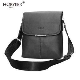 Wholesale Brand Briefcase Wholesale - Wholesale- HORYEER 2016 famous Brand Leather Men Messenger Bags Men Crossbody Shoulder Bags Handbags Men Polo Bags Brand Casual Briefcase