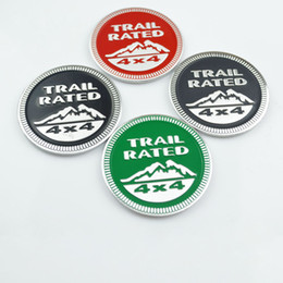 Wholesale Jeep 3d Decal - 2pcs Trail Rated 4x4 Emblem Decal Badge Sticker For Jeep Wrangler Grand