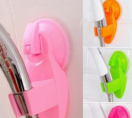 Wholesale Stand Shower Faucets - Home Bathroom Vacuum Holder Wall Suction Cup Wall Mount Adjustable Shower Head Holder