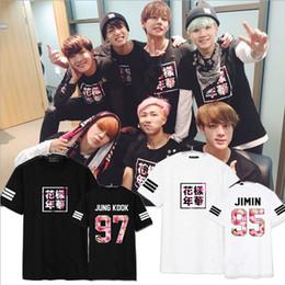 Wholesale Bts Group - Wholesale-2016 New Kpop BTS Group Sakura Tops Men Tops & Tees Cotton T Shirt Women & Men Fashion Design Men's T-Shirt Sakura Printed