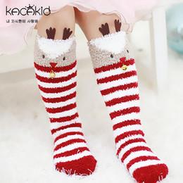 Wholesale Fleece Baby Socks - Kids socks full winter Unisex coral fleece warmers baby girl boy knee high cute deer unicorn koala bear sock baby stripe Knee Pad sock T4655