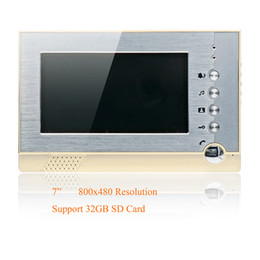"""Wholesale Door Phone Sd - take photo and video good look 7"""" LCD Wired Video Door Phone Doorbell Intercom system monitor support 32GB SD card"""