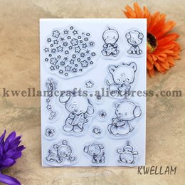 Wholesale Bear Rubber Stamp - Wholesale- Little Bear Scrapbook DIY photo cards account rubber stamp clear stamp transparent stamp 10.5x15cm KW691019