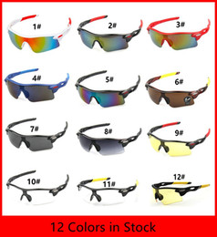 Wholesale Coloured Bicycle - 12 Colors summer newest style Only SUN glasses sunglasses men Bicycle Glass NICE sports sunglasses Dazzle colour glasses 100pcs SG01