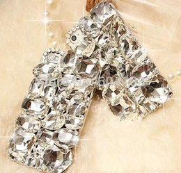 Wholesale Diamond Iphone 4s Cases - Hand-made 3D Bling Shine Shaped Diamond Stones Rhinestone Luxury Hard Phone Case Cover For iPhone4 4S 5 5s SE 6 6S 7 7 Plus