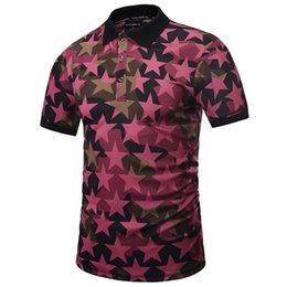 Wholesale Mr Color - England Style Mr New Fashion Men Polo Shirts Full Print Pentagram Shirts 3d Summer Tops Polo Shirts