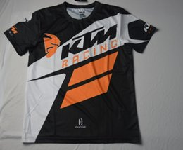 Wholesale Dh Shorts - 2017 New Arrival Men's Casual KTM Motorcycle T Shirt Jersey Short Sleeve Airline Jersey Motocross DH Downhill MX MTB Breathable Off-Road XXL