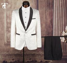 Wholesale White Single Piece Dress - Men Suits 2 Piece (suit +pants) tuxedo Suits Mens brand Floral Blazer Straight Weeding Dress Business Suits and Jackets