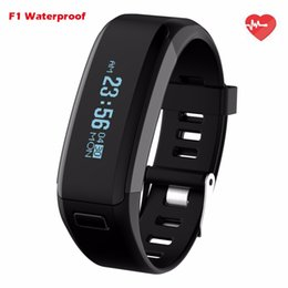 Wholesale Mobile Heart Rate Monitor - NO.1 Smartband F1 Waterproof Silicone Material Wristbands Sports Intelligent Bracelet With Mobile Phone Calls Heart Rate Monitor