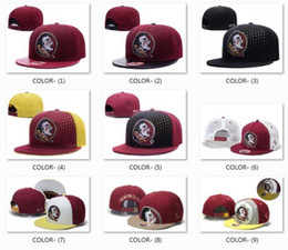 Wholesale Florida State Ncaa - New Florida State Seminoles Cap NCAA Snapback Hats For Men and Women Brand College Football Cap Embroidered Logo Adjustable Caps